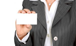 Present a business card to employers to stand out